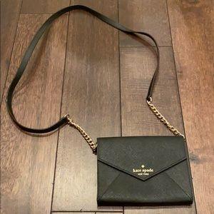 Black Kate Spade wallet/clutch w/ shoulder strap
